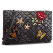 Desigual - Black Quilted Symbol Cross Body Bag