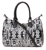 Desigual Black With Robot People Shoulder Bag