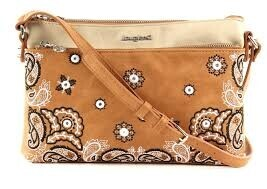 Desigual - Taupe & Beige Bandana Cross Body Bag