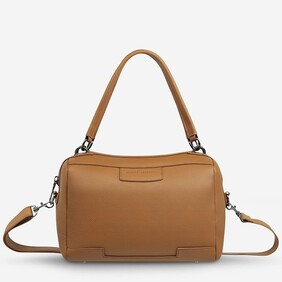 Status Anxiety Don't Ask Tan Leather Handbag