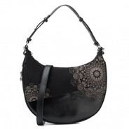 Desigual - Black With Detailing Cross Body Bag