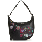 Desigual Black With Floral Crossbody Bag