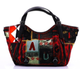 Desigual Tartan Patchwork Shoulder Bag